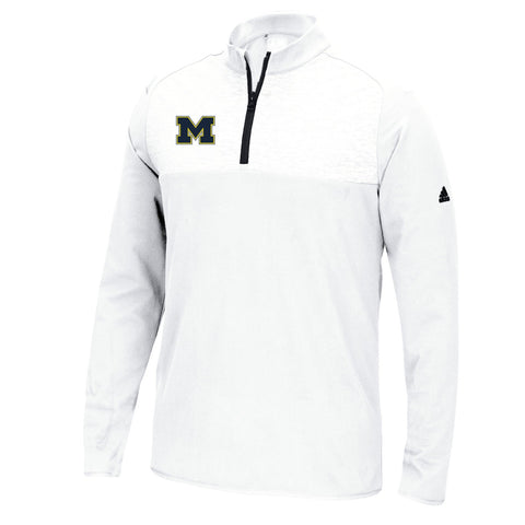 Michigan Wolverines NCAA Adidas Men's Adi Golf White Fashion Pullover Jacket