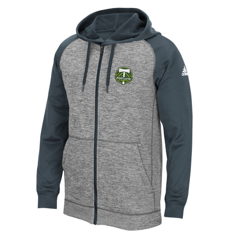 Portland Timbers MLS Adidas Men's ClimaWarm Grey Fleece Hoodie