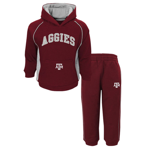 "Texas A&M Aggies NCAA ""Classic Fan"" Pullover Hoodie & Pants (2) Piece Set Boys"
