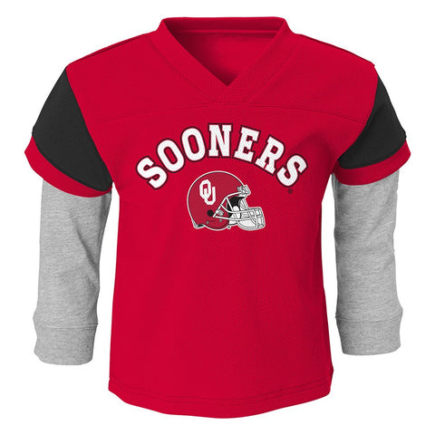 "Oklahoma Sooners NCAA Red ""Charger"" Long Sleeve T-Shirt & Pants Set Boys (4-7)"