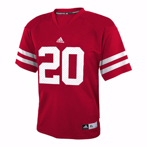 Wisconsin Badgers Adidas NCAA Boys #20 Home Football Jersey