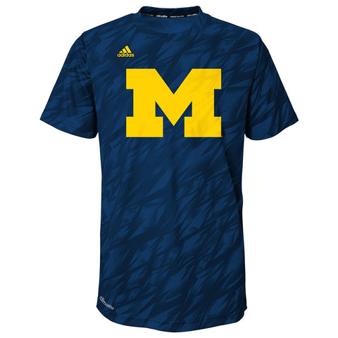 "Michigan Wolverines NCAA Adidas Boys Navy ""Mark My Words"" Climalite T-Shirt"