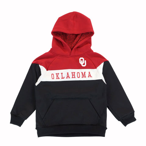 "Oklahoma Sooners NCAA ""Pivot"" Performance Pullover Hoodie Fleece Boys (4-7)"