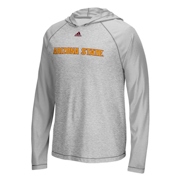 "Arizona State Sun Devils NCAA Adidas Grey ""Mark My Words"" L/S Hooded T-Shirt"