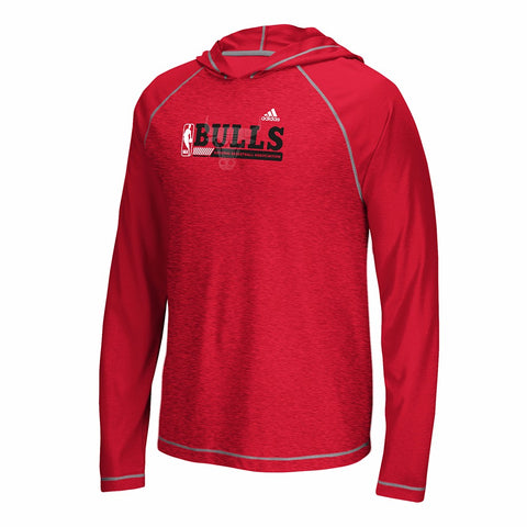 "Chicago Bulls NBA Men's Red ""Fast Break"" Long Sleeve Hooded T-Shirt"