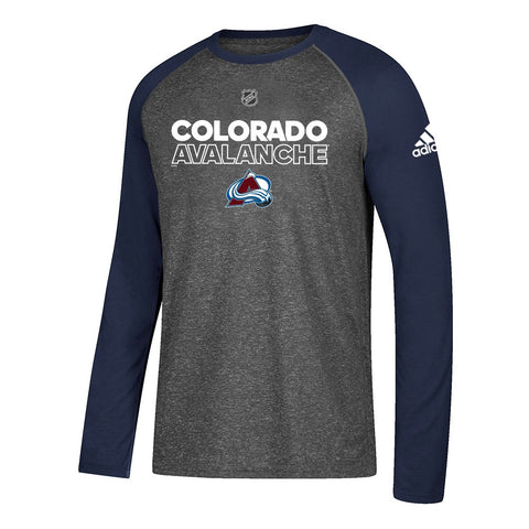Colorado Avalanche NHL Adidas Men's 2017 Authentic Ice Grey Climalite T-Shirt