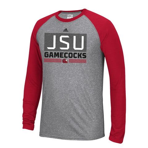 Jacksonville State Gamecocks  NCAA Adidas Men's Linear Stacked Grey T-Shirt