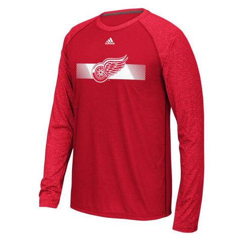 "Detroit Red Wings NHL Adidas Men's ""Resurface"" Team Logo Red Climalite T-Shirt"