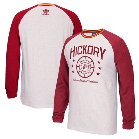 Indiana Pacers White Adidas Originals Raglan Team Classics Long Sleeve T-Shirt