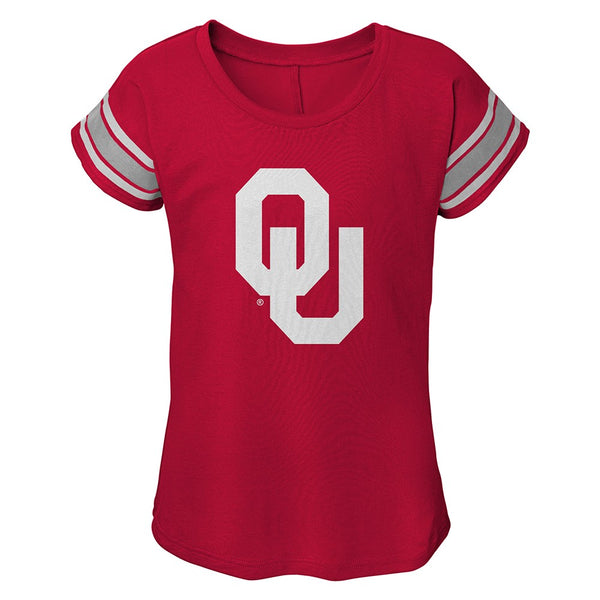Oklahoma Sooners NCAA Outerstuff Girls Red Dolman T-Shirt