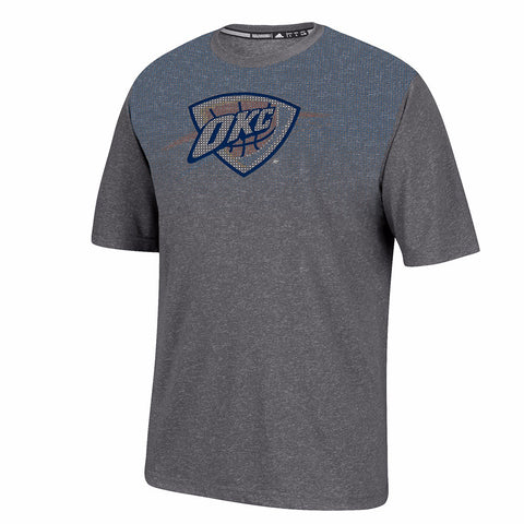 Oklahoma City Thunder Men's Grey Adidas Surface Ultimate Tee Climalite T-Shirt