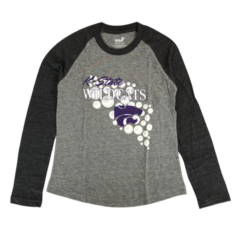 "Kansas State Wildcats Girls Grey ""Mother of Pearl"" Long Sleeve Raglan T-Shirt"
