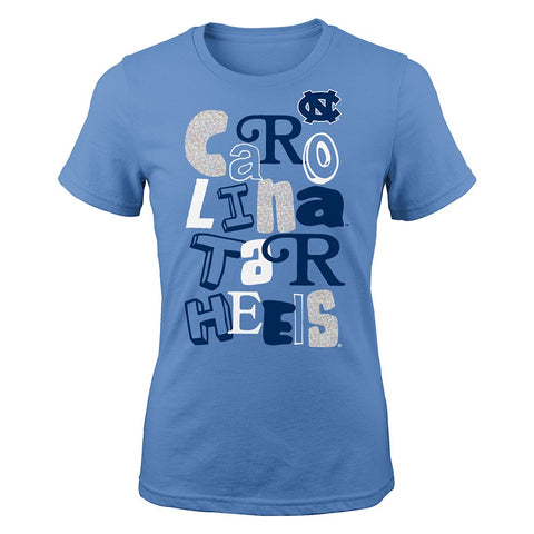 "North Carolina Tar Heels NCAA Girls Light Blue ""Marquise"" Fashion T-Shirt"
