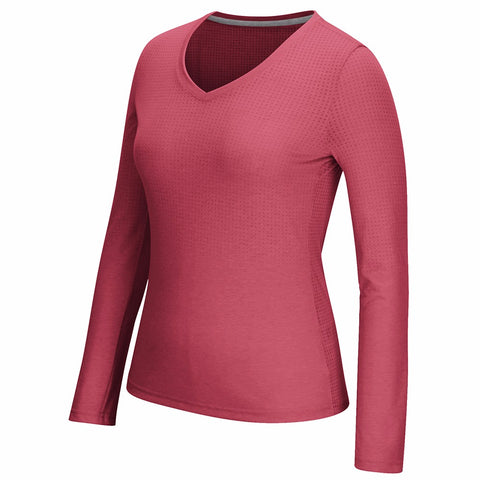 Adidas Aeroknit Climacool Performance Long Sleeve (Red) T-Shirt Women's XS