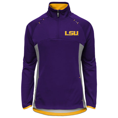 "LSU Tigers NCAA ""Extreme"" Purple Team Logo 1/4 Zip Pullover Jacket Girls Youth"