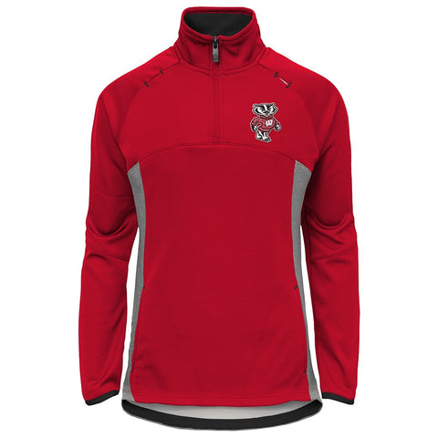 "Wisconsin Badgers NCAA ""Extreme"" Team Logo 1/4 Zip Pullover Jacket Girls Youth"