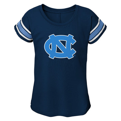 North Carolina Tar Heels NCAA Outerstuff Girls Navy Blue Dolman T-Shirt