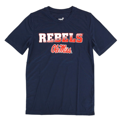 Ole Miss Rebels Outerstuff NCAA Youth Navy Blue Performance T-Shirt