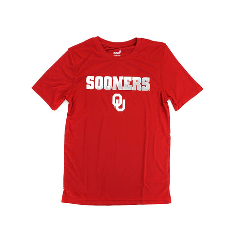 Oklahoma Sooners Outerstuff NCAA Youth Red Performance T-Shirt