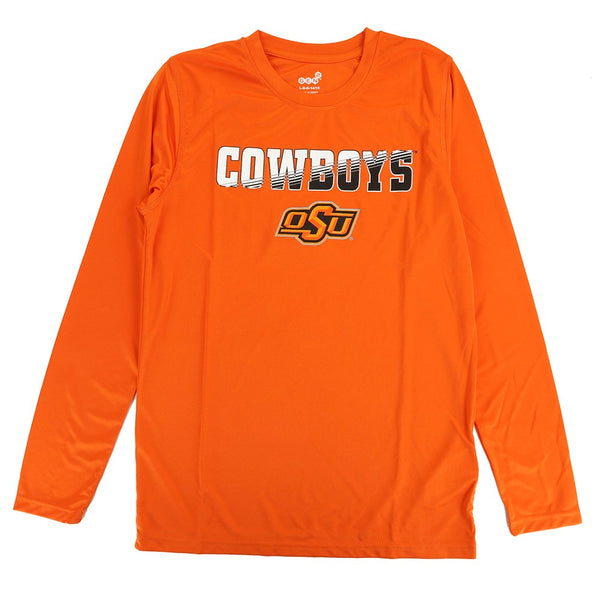 Oklahoma State Cowboys NCAA Youth Orange Performance Long Sleeve T-Shirt