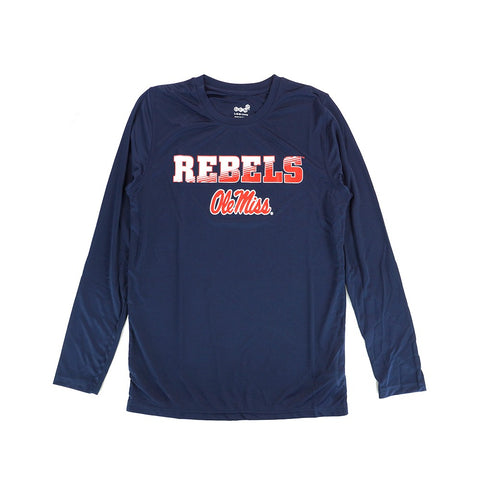 Ole Miss Rebels NCAA Youth Navy Blue Performance Long Sleeve T-Shirt