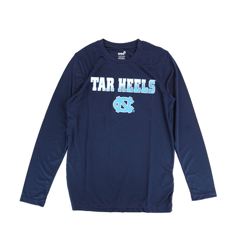 North Carolina Tar Heels NCAA Youth Navy Blue Performance Long Sleeve T-Shirt