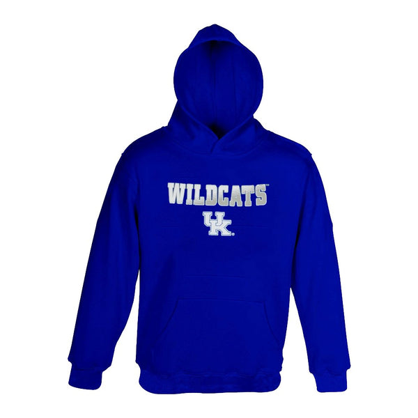 Kentucky Wildcats NCAA Blue Team Logo Performance Pullover Hoodie Youth (S-XL)