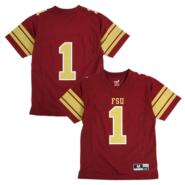 Florida State Seminoles Outerstuff NCAA Youth #1 Home Garnet Football Jersey