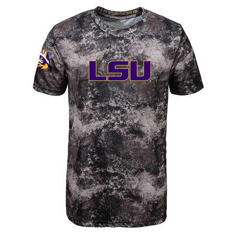 LSU Tigers NCAA Outerstuff Youth Black Sublimated Dri-Tek T-Shirt
