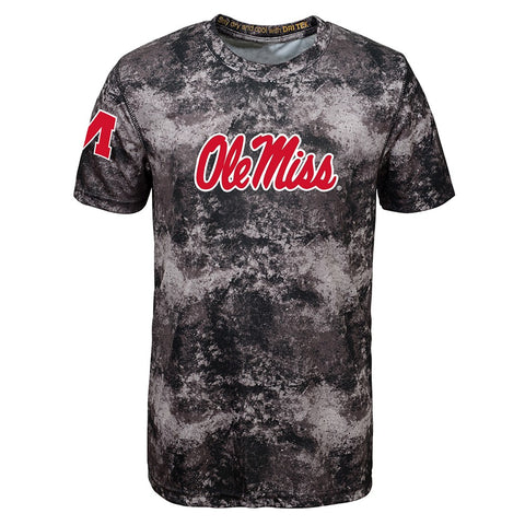 Ole Miss Rebels NCAA Outerstuff Youth Black Sublimated Dri-Tek T-Shirt