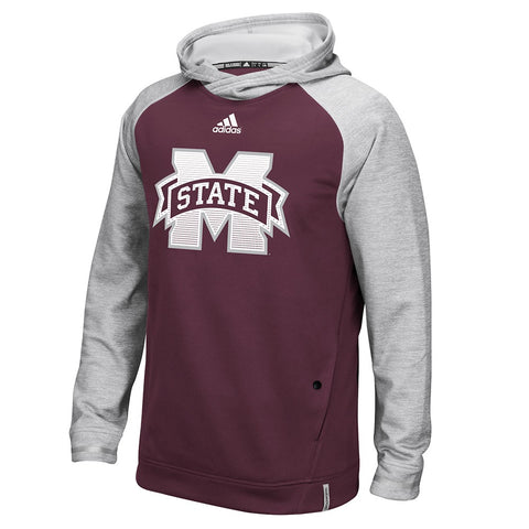 Mississippi State Bulldogs Adidas NCAA Men's Maroon Sideline Climawarm Hoodie