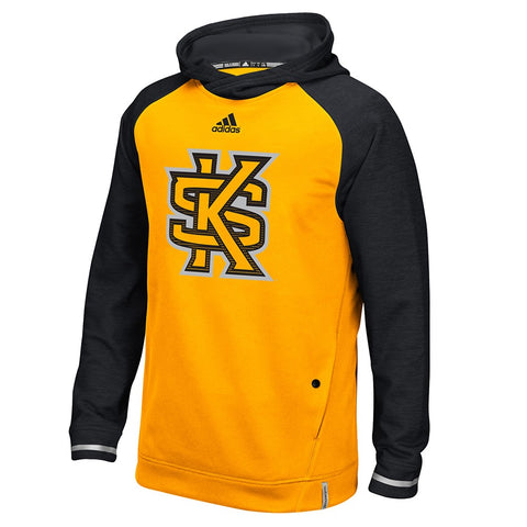 Kennesaw State Owls Adidas NCAA Men's Gold Sideline Climawarm Performance Hoodie