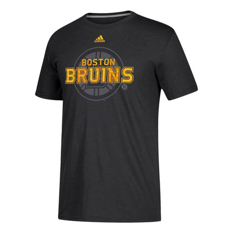 "Boston Bruins NHL Adidas Black ""Shift"" Team Logo Climalite T-Shirt"
