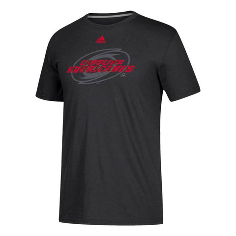 "Carolina Hurricanes NHL Adidas Men's Black ""Shift"" Team Logo T-Shirt"