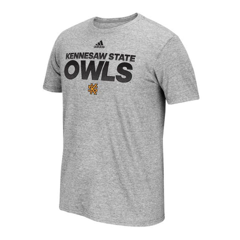 Kennesaw State Owls NCAA Adidas Grey Sideline Hustle Climalite T-Shirt