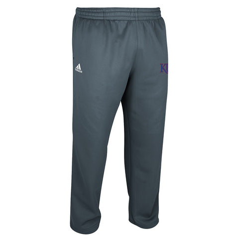 Kansas Jayhawks Adidas NCAA Men's Onix Grey Team Issue Fleece Pants (L)