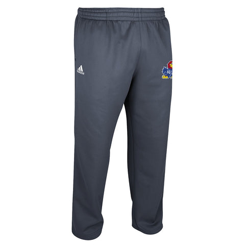 Kansas Jayhawks Adidas NCAA Men's Onix Grey Team Issue Climawarm Fleece Pants