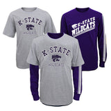 "Kansas State Wildcats NCAA Youth ""Classic Fade"" Long Sleeve/Short Shirt Set"