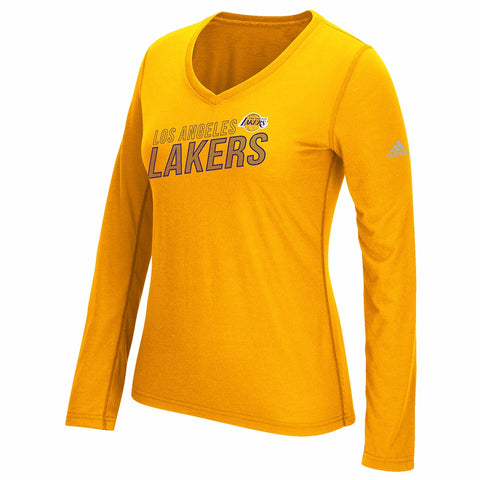 "Los Angeles Lakers NBA Women's Gold ""Stacked Stripe Pattern"" Long Sleeve T-Shirt"