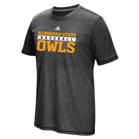 Kennesaw State Owls NCAA Adidas Black Sideline Practice Baseball T-Shirt