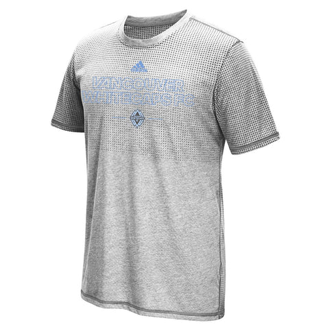 Vancouver Whitecaps FC MLS Adidas Grey 2016 Authentic Club Climacool T-Shirt