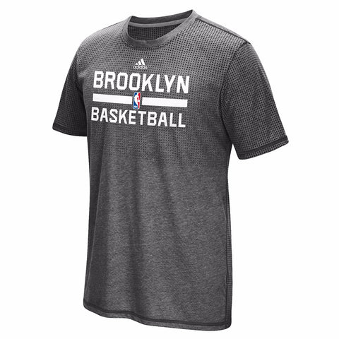 "Brooklyn Nets NBA Adidas ""On-Court"" Graphic Aeroknit Climacool T-Shirt Men's"