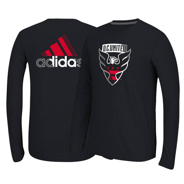 D.C. United MLS Adidas Black Primary Logo w/ Adi Full Back Logo T-Shirt