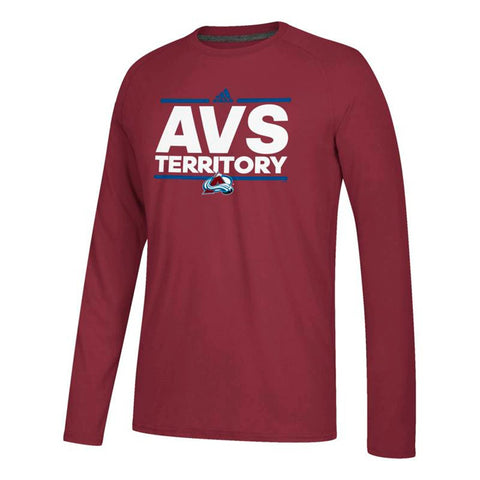 Colorado Avalanche NHL Adidas Burgundy Dassler Local Climalite L/S T-Shirt