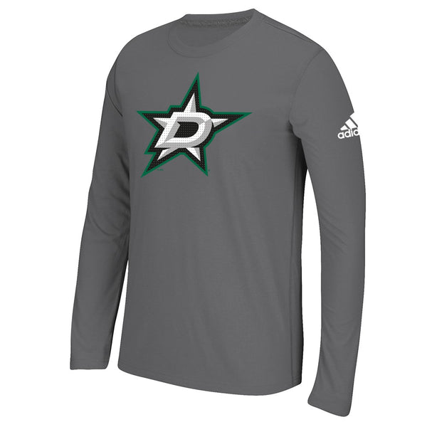 "Dallas Stars NHL Adidas Graphite ""Primary Position"" Climalite L/S T-Shirt"