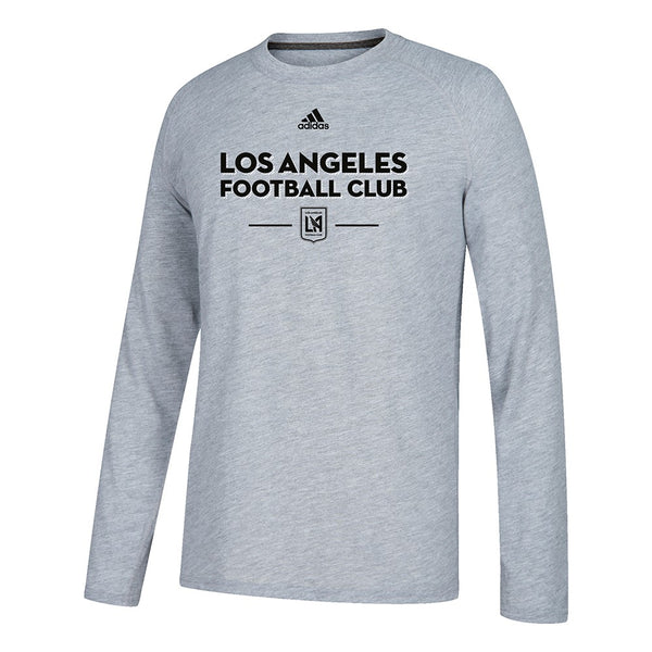 "Los Angeles FC MLS Adidas Grey ""Lined Up"" Climalite L/S T-Shirt"