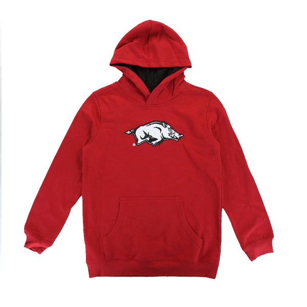 "Arkansas Razorbacks NCAA ""Overlap"" Grey Pullover Hoodie Fleece Youth (S-XL)"