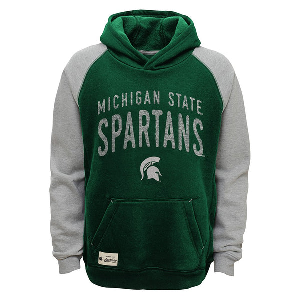 "Michigan State Spartans NCAA ""Foundation"" Vintage Pullover Hoodie Fleece Youth"