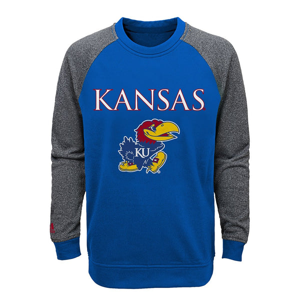 Kansas Jayhawks NCAA Primary Team Logo Crewneck Sweatshirt Youth (S-XL)