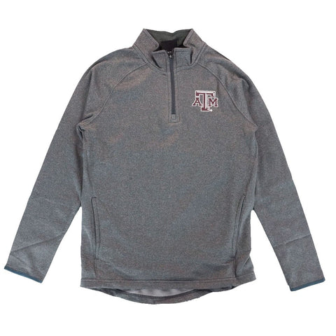 Texas A&M Aggies NCAA 1/4 Zip Pullover Performance Grey Jacket Youth